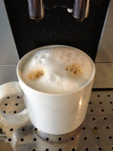 My first full fat, whole milk cappucino since the fall. I'm not going to lie, the foam is amazing with whole milk.